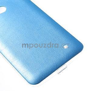Gelový kryt s imitací kůže pro Microsoft Lumia 640 - modrý - 4