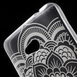 Transparentní gelový obal na Microsoft Lumia 640 - květina - 4/5