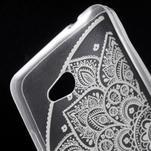 Transparentní gelový obal na Microsoft Lumia 640 - lotos - 4/5