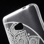 Transparentní gelový obal na Microsoft Lumia 640 - lotos 2 - 4/5