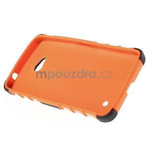 Vysoce odolný kryt se stojánkem na Microsoft Lumia 640 - oranžový - 4