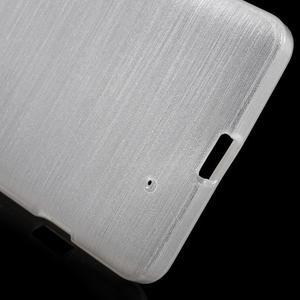 Brush hladký gelový obal na Microsoft Lumia 950 - bílý - 4