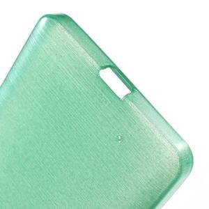 Brush hladký gelový obal na Microsoft Lumia 950 - cyan - 4