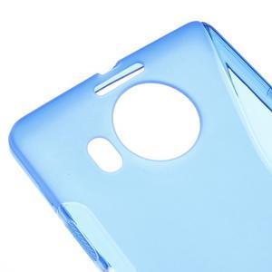 S-line gelový obal na mobil Microsoft Lumia 950 XL - modrý - 4