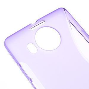 S-line gelový obal na mobil Microsoft Lumia 950 XL - fialový - 4