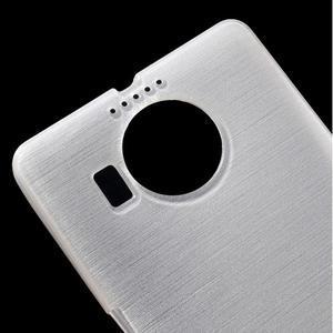 Brushed gelový obal na mobil Microsoft Lumia 950 XL - bílý - 4