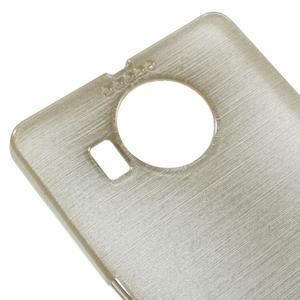 Brushed gelový obal na mobil Microsoft Lumia 950 XL - zlatý - 4