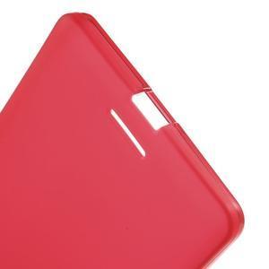 Matný gelový obal na mobil Microsoft Lumia 950 XL - červený - 4