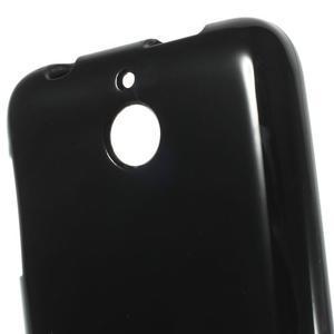 Jelly lesklý gelový obal na HTC Desire 510 - černý - 4
