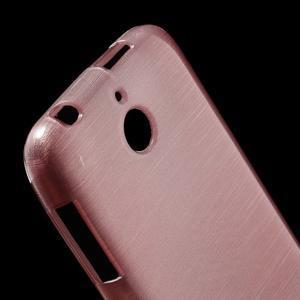 Brushed hladký gelový obal na HTC Desire 510 - růžový - 4