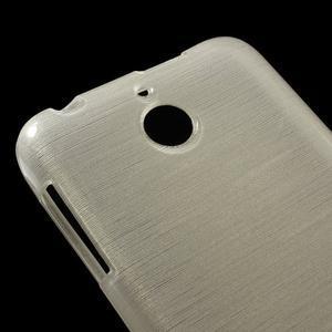 Brushed hladký gelový obal na HTC Desire 510 - zlatý - 4