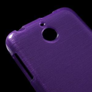 Brushed hladký gelový obal na HTC Desire 510 - fialový - 4