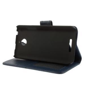 Folio PU kožené pouzdro na mobil HTC Desire 510 - tmavěmodré - 4