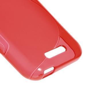 S-line gelový obal na mobil HTC Desire 510 - červený - 4
