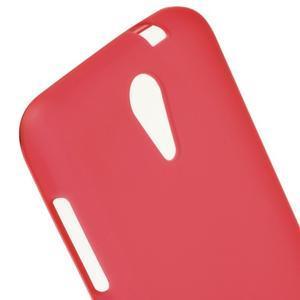 Matný gelový obal na mobil HTC Desire 620 - červený - 4