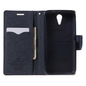 Diary PU kožené pouzdro na mobil HTC Desire 620 - červené - 4