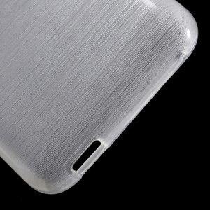 Brushed hladký gelový obal na HTC Desire 620 - bílý - 4