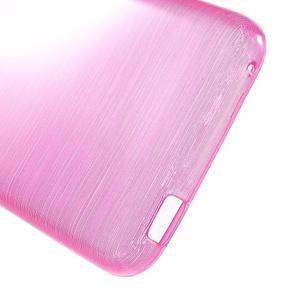 Brushed hladký gelový obal na HTC Desire 620 - rose - 4