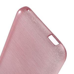 Brushed hladký gelový obal na HTC Desire 620 - růžový - 4