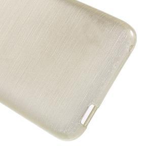 Brushed hladký gelový obal na HTC Desire 620 - zlatý - 4