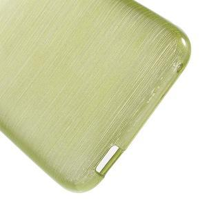 Brushed hladký gelový obal na HTC Desire 620 - zelený - 4