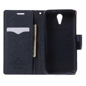 Diary PU kožené pouzdro na mobil HTC Desire 620 - rose - 4