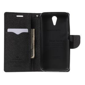 Diary PU kožené pouzdro na mobil HTC Desire 620 - černé - 4