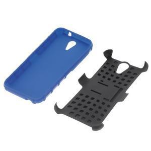 Outdoor odolný obal pre mobil HTC Desire 620 - modrý - 4