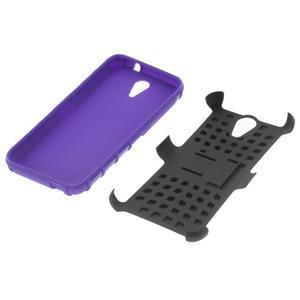 Outdoor odolný obal na mobil HTC Desire 620 - fialový - 4