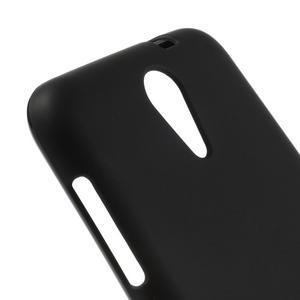 Matný gelový obal na mobil HTC Desire 620 - černý - 4
