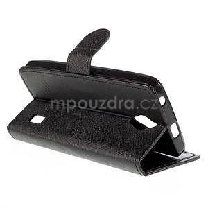 PU kožené černé pouzdro se zapínáním Huawei Y635 - 4