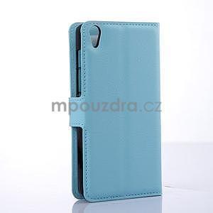 Stylové peněženkové pouzdro na Lenovo S850 - modré - 4