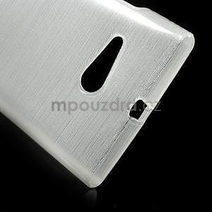 Gelový obal Brush na Nokia Lumia 730/735 - bílý - 4