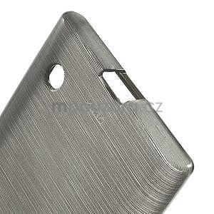 Gelový obal Brush na Nokia Lumia 730/735 - šedý - 4