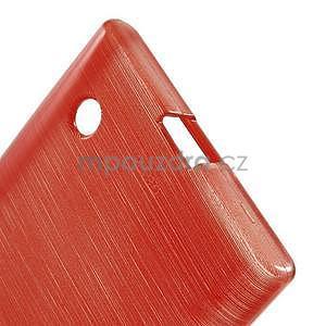 Gelový obal Brush na Nokia Lumia 730/735 - červený - 4