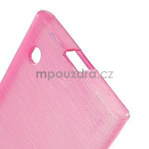 Gelový obal Brush na Nokia Lumia 730/735 - rose - 4