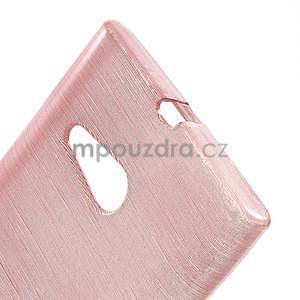 Gelový obal Brush na Nokia Lumia 730/735 - růžový - 4