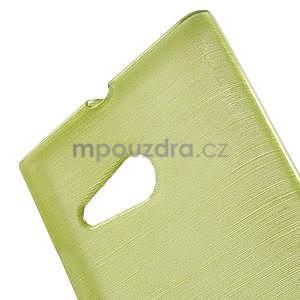 Gelový obal Brush na Nokia Lumia 730/735 - zelený - 4