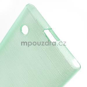 Gelový obal Brush na Nokia Lumia 730/735 - azurový - 4