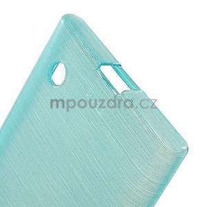 Gelový obal Brush na Nokia Lumia 730/735 - modrý - 4