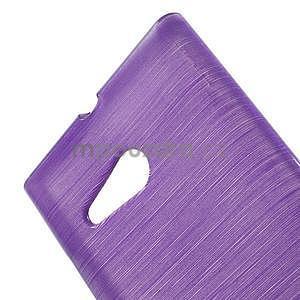 Gelový obal Brush na Nokia Lumia 730/735 - fialový - 4