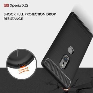 Carbon odolný gelový obal s broušením na Nokia 6.1 - tmavěmodrý - 4