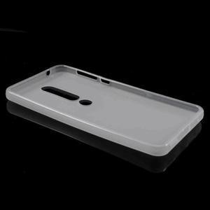 Matný gelový obal na Nokia 6.1 - bílý - 4