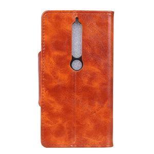 Retro PU kožené pouzdro na Nokia 6.1 - hnědé - 4