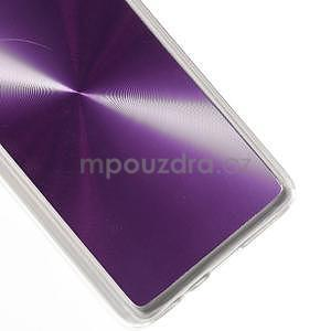 Metalický plastový obal na Samsung Galaxy A3 - fialový - 4