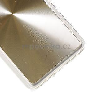 Metalický plastový obal na Samsung Galaxy A3 - zlatý - 4