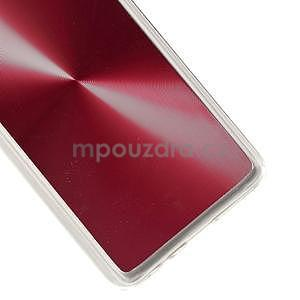 Metalický plastový obal na Samsung Galaxy A3 - červený - 4