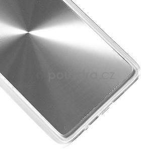 Metalický plastový obal na Samsung Galaxy A3 - stříbrný - 4