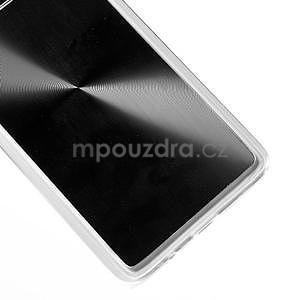 Metalický plastový obal na Samsung Galaxy A3 - černý - 4