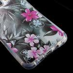 Tvarovaný gelový obal na Samsung Galaxy A5 (2016) - květiny - 4/5